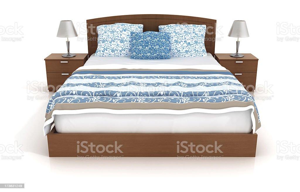 Bett, isoliert auf Weiß 1 – Foto
