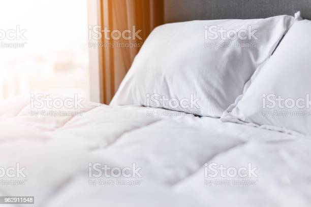 Bed maidup with clean white pillows and bed sheets in beauty room picture id962911548?b=1&k=6&m=962911548&s=612x612&h=ftcfnmfq3vqy1tkkhl9 ivnrdf3ya7kltv0pkpqyfyy=