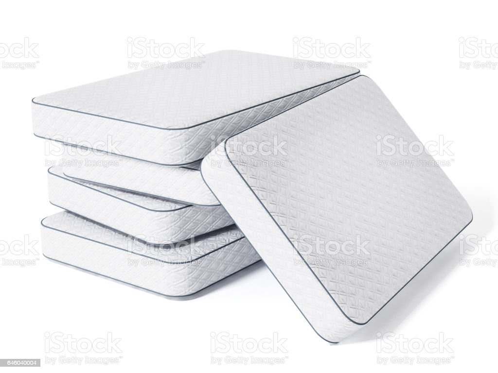 stack of mattresses. Bed Maitress Stack Isolated On White Stock Photo Of Mattresses R