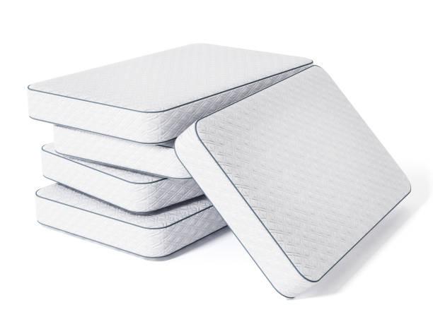 pile de maitress lit isolé sur blanc - matelas photos et images de collection