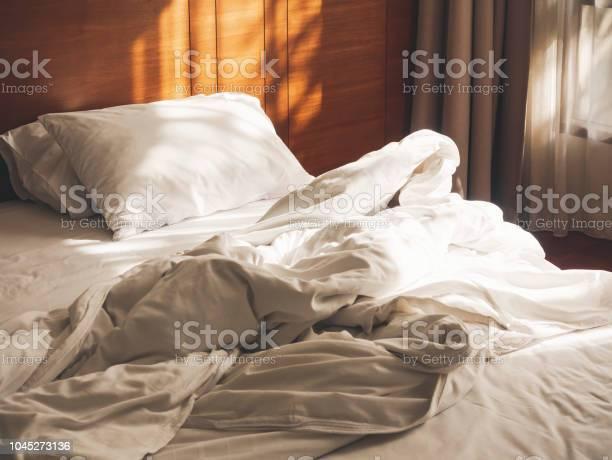 Bed mattress pillows duvet unmade bedroom morning with sunlight picture id1045273136?b=1&k=6&m=1045273136&s=612x612&h= vvzsqsrrmi3xq3zgqvsvjpzz dipv4hdrwnzjd5cym=