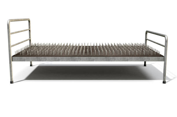 Bed Of Nails Isolated stock photo