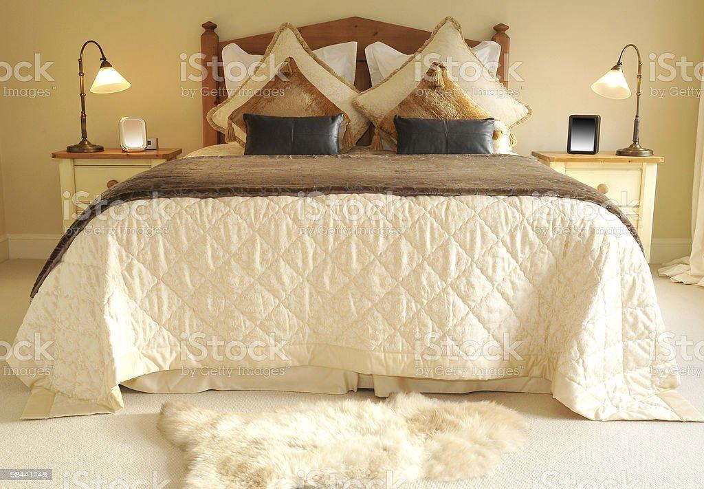 침대 1개 royalty-free 스톡 사진