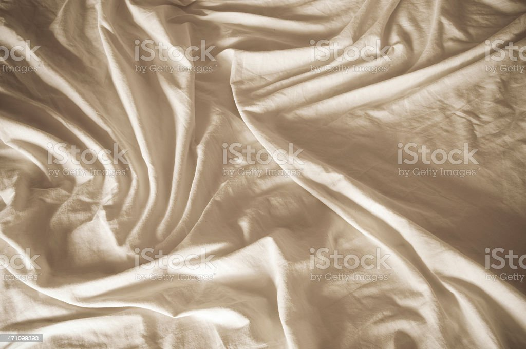 Bed sheet at morning royalty-free stock photo