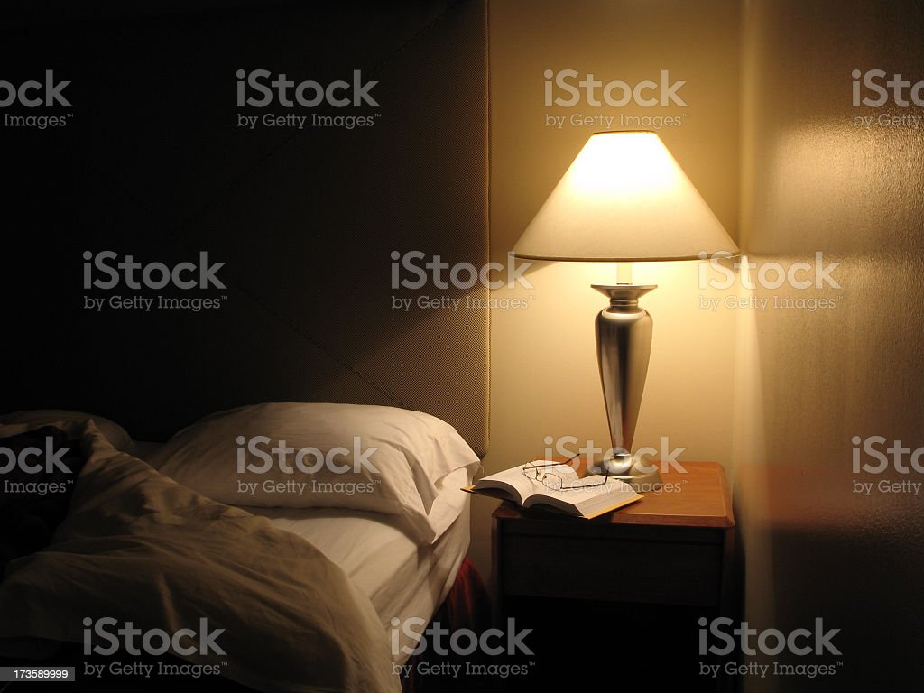 Bed Turned Down in Hotel Room stock photo
