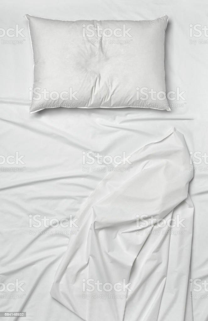 bedding sheet pillow bed sleep stock photo