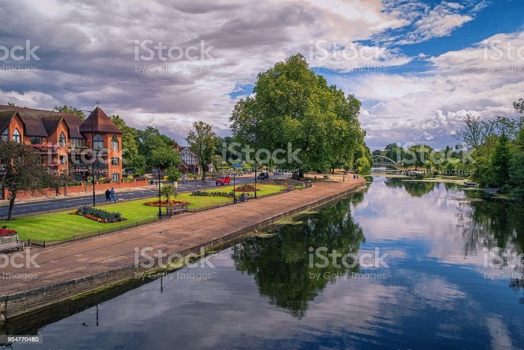 Bedford Embankment, England stock photo