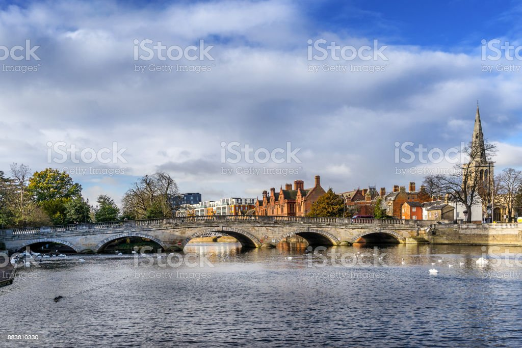 Bedford in the county of Befordshire stock photo