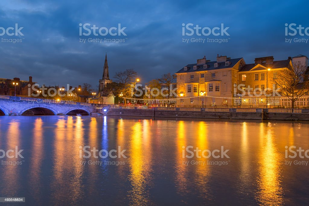 Bedford in the English county of Bedfordshire stock photo