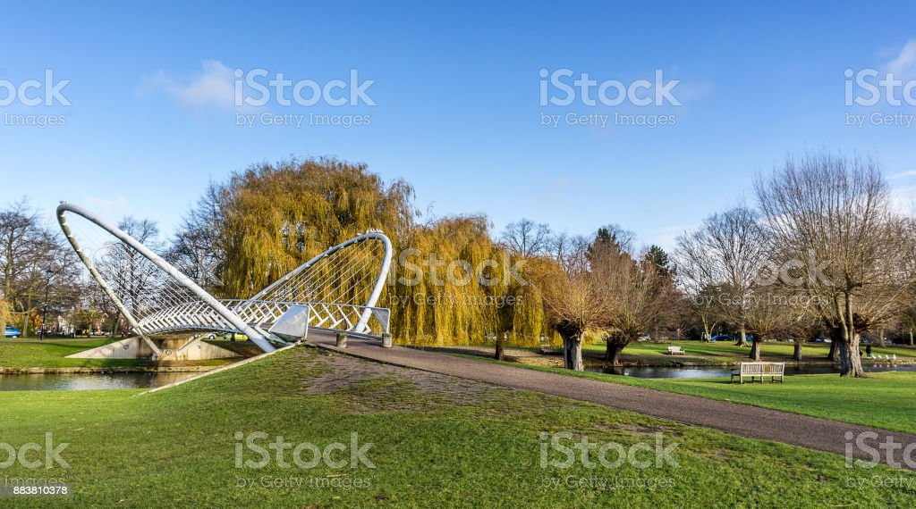 Bedford in the UK stock photo