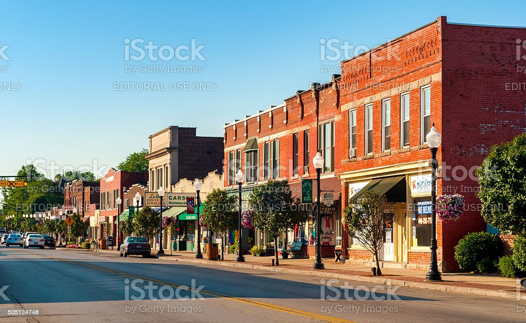 Bedford main drag stock photo