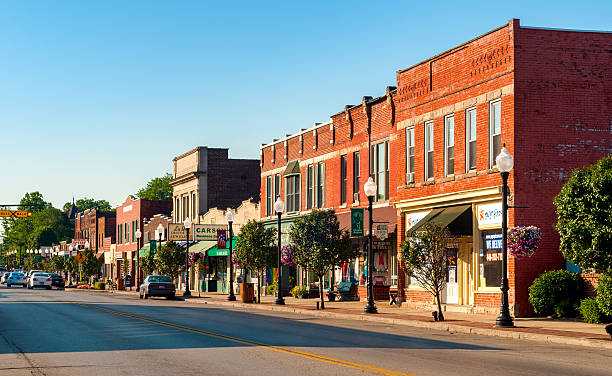 bedford main drag - city street stock pictures, royalty-free photos & images