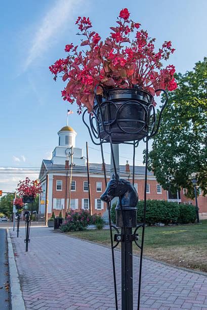 Bedford Pennsylvania Summer Downtown Courthouse stock photo