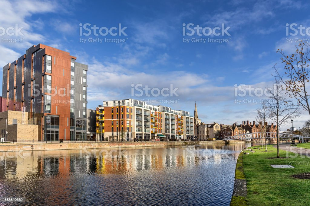 Bedford Riverside stock photo
