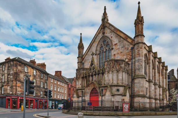 Bedlam Theatre, the oldest student-run theatre in Britain and venue for the famous Edinburgh Fringe, housed in a former Neo-gothic church in central Edinburgh, UK stock photo