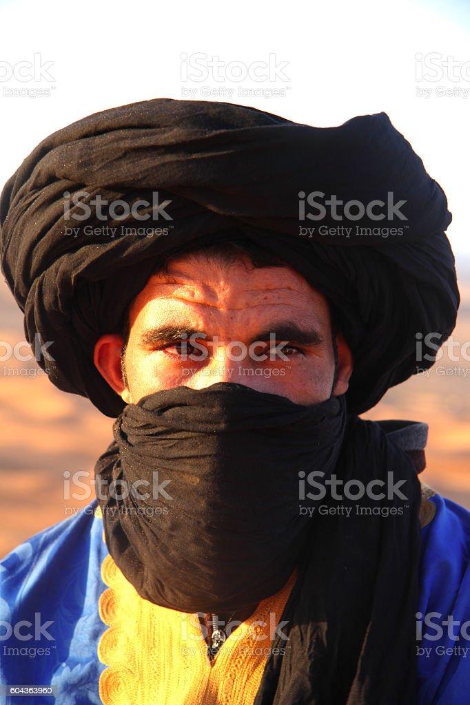 Bedouin and desert stock photo