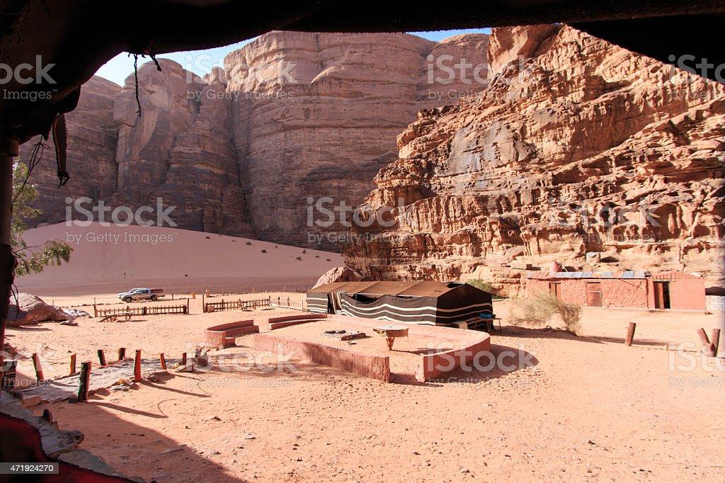 Bedouin camp in the Wadi Rum desert, Jordan stock photo