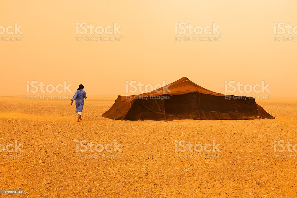 Bedouin man stock photo