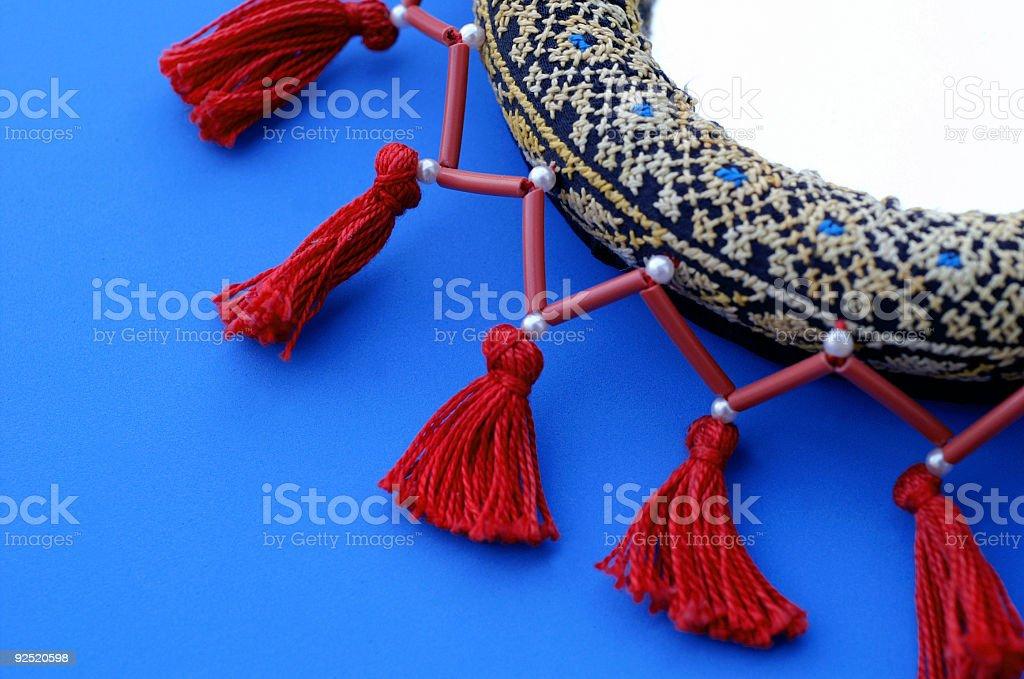 Bedouin Mirror on Blue royalty-free stock photo