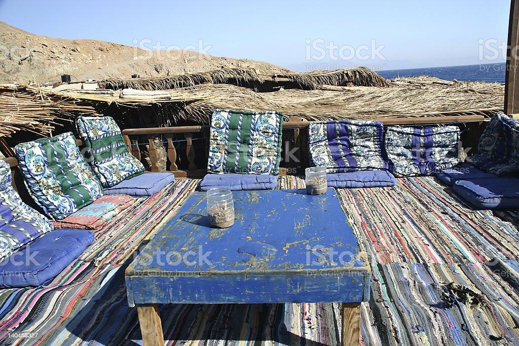 Bedouin table stock photo