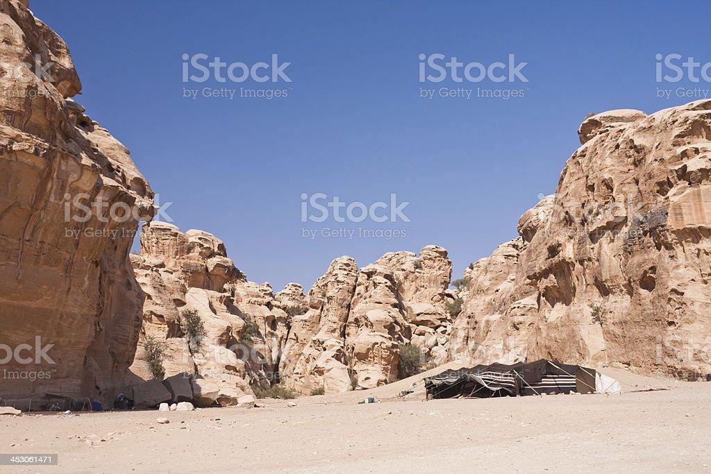 Bedouin Tent at Petra in Jordan royalty-free stock photo