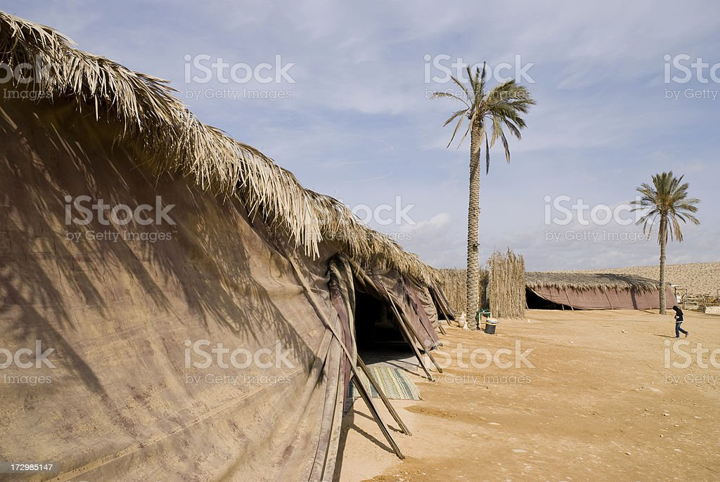 Bedouin Tent in Israel royalty-free stock photo