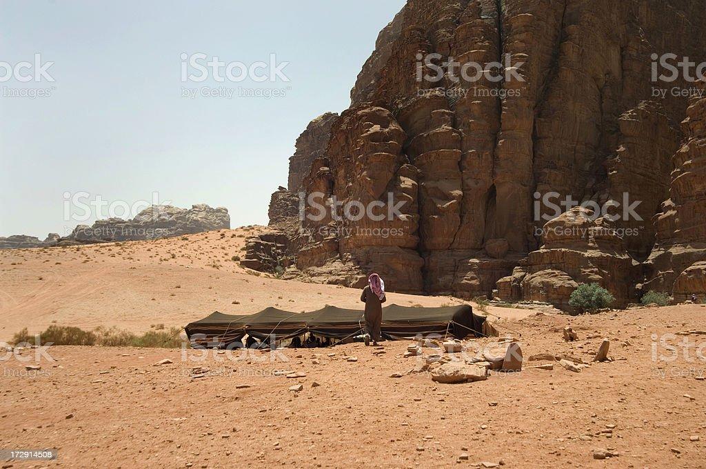 Bedouin tent royalty-free stock photo