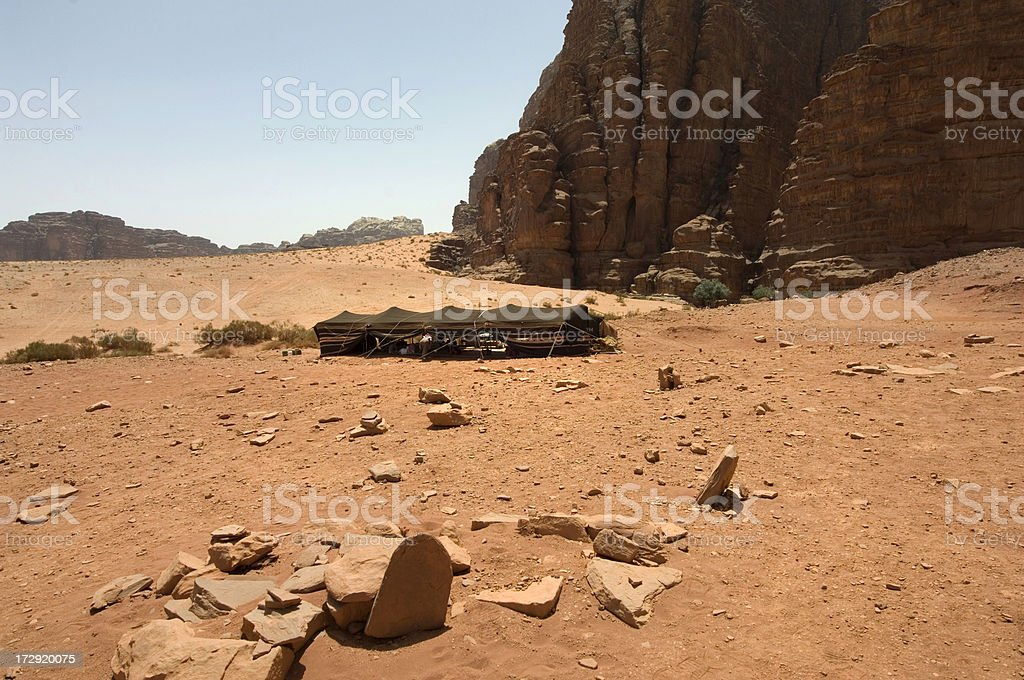 Bedouin tent royalty-free stock photo