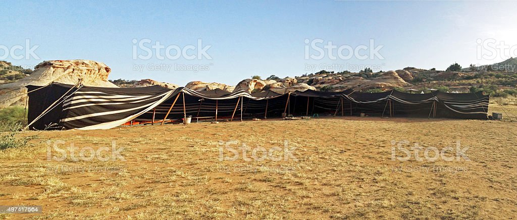 Bedouin Tent stock photo
