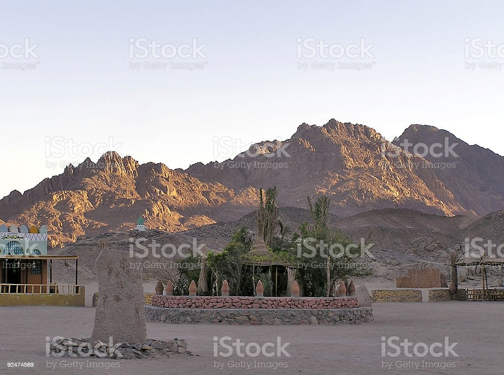 Bedouins village details royalty-free stock photo