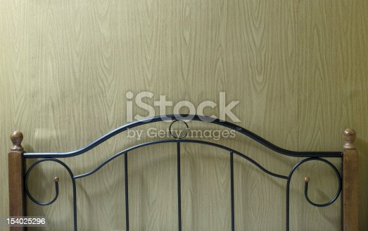 close up of an old bedpost