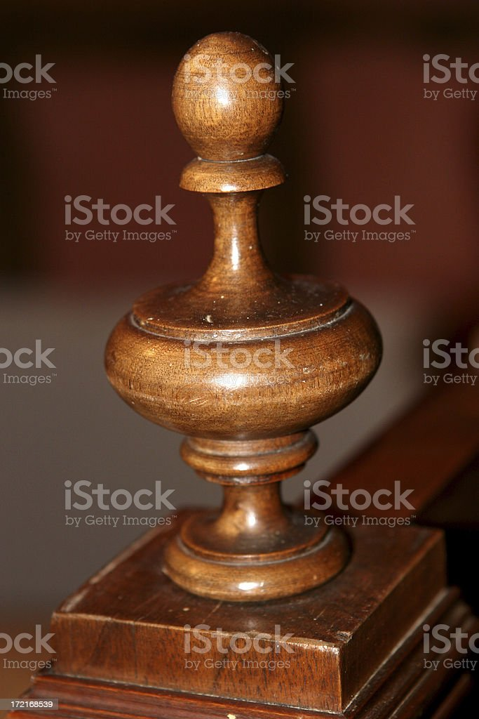 Bedpost royalty-free stock photo