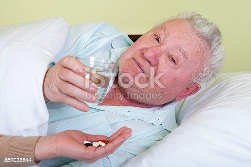istock Bedridden elderly man 852038844