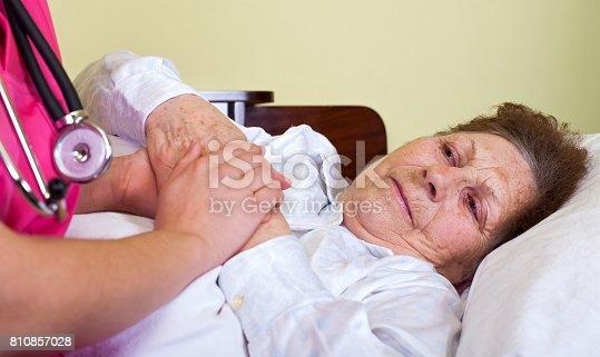 istock Bedridden elderly woman 810857028