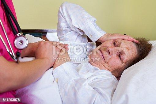 istock Bedridden elderly woman 841293878