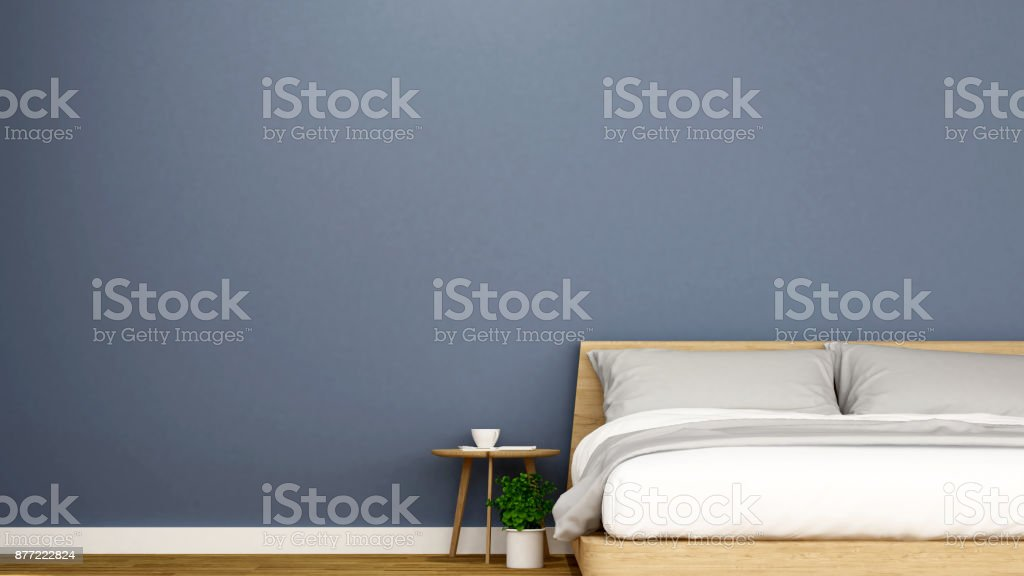bedroom and empty sapce for artwork of apartment or hotel - Interior design - 3D Rendering stock photo
