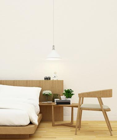 istock bedroom and living area - 3d rendering 592003894