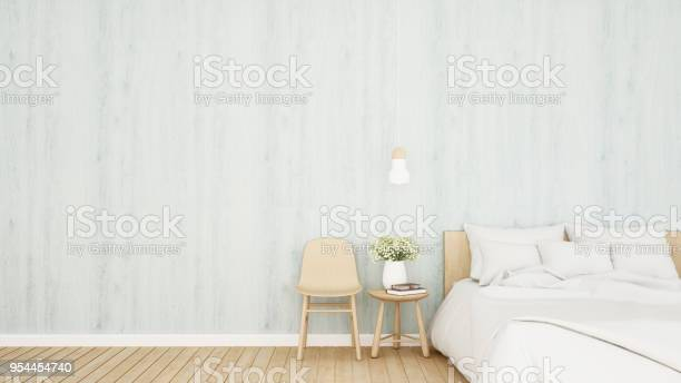 Bedroom And Living Area On Bright Blue Tone In Hotel Or Apartment Bedroom Simple Design 3d Rendering Stock Photo Download Image Now Istock
