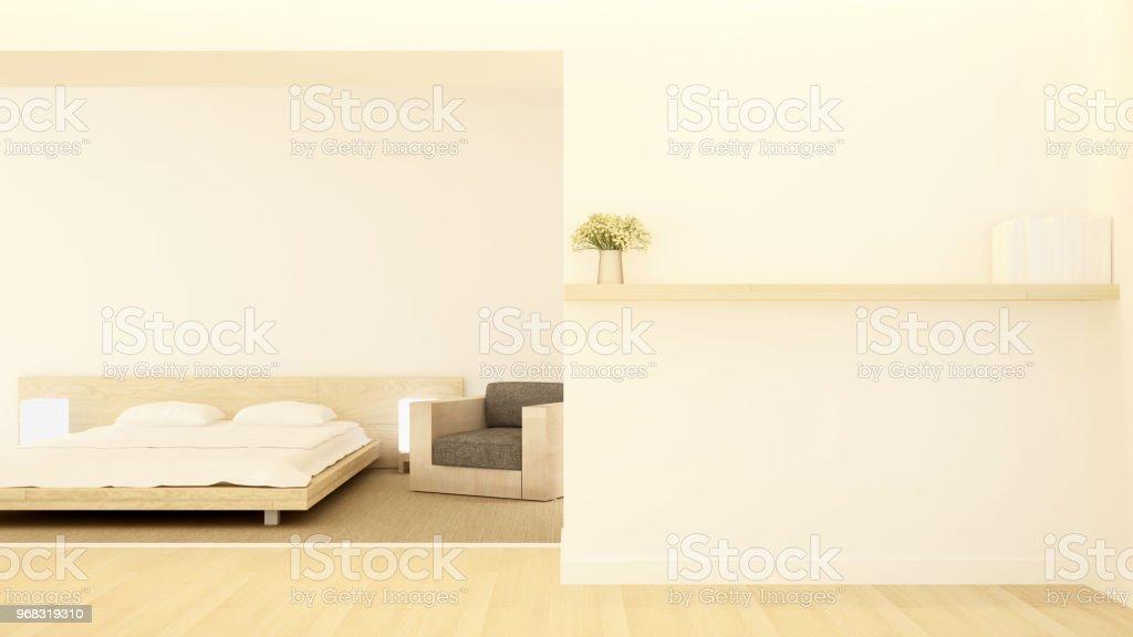 Schlaf Und Wohnbereich Auf Warme Farbe In Wohnung Oder Hotel