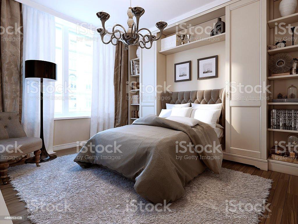 Bedroom Art Deco Style Stock Photo - Download Image Now - iStock