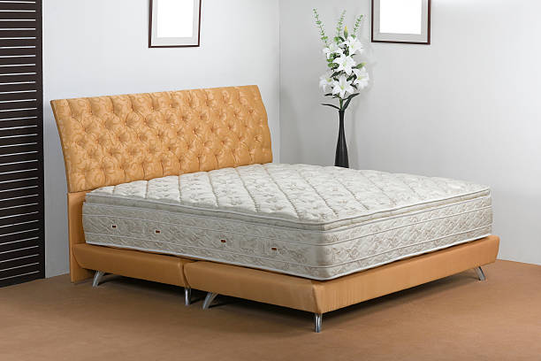 Bedroom atmosphere and mattress spring in studio stock photo