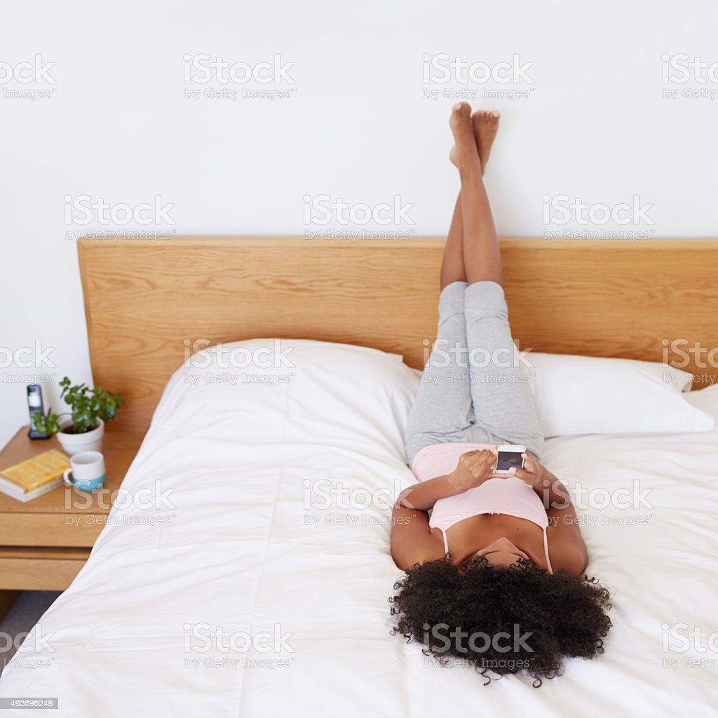 Bedroom chillin' stock photo