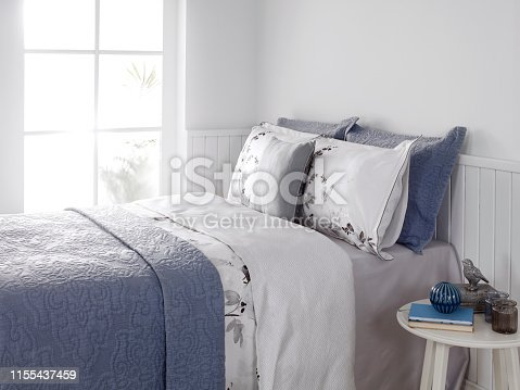 Modern decorated bedroom detail