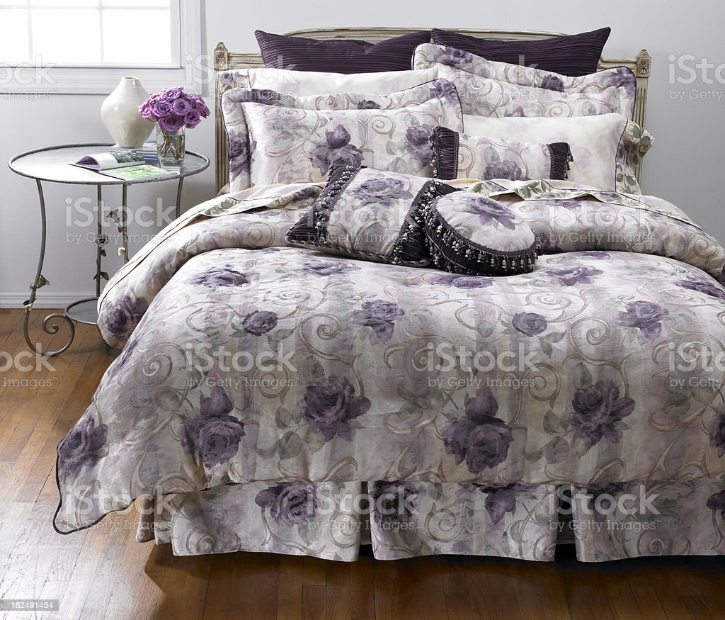 Bedroom Floral royalty-free stock photo
