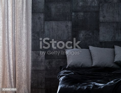 istock Bedroom for bachelor 508860888