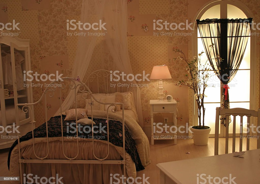 Bedroom - home interiors royalty-free stock photo