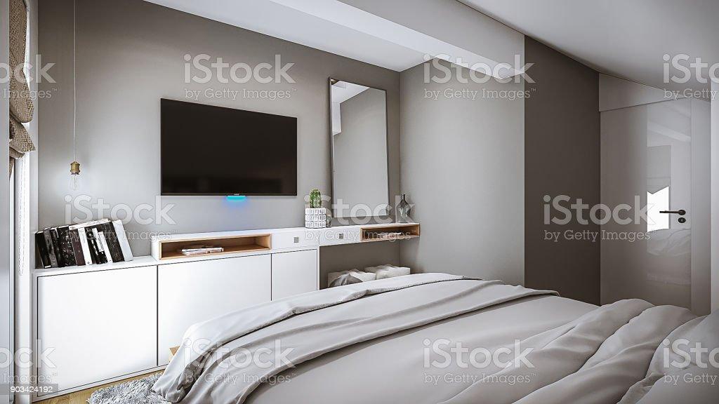 Superieur Schlafzimmer Idee Lizenzfreies Stock Foto