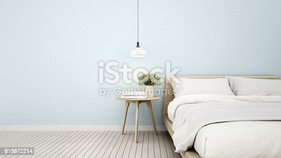 bedroom in apartment or home - 3D Rendering