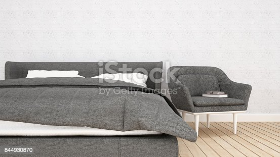 924294300 istock photo bedroom in apartment or hotel ,Interior Design - 3D Rendering 844930870