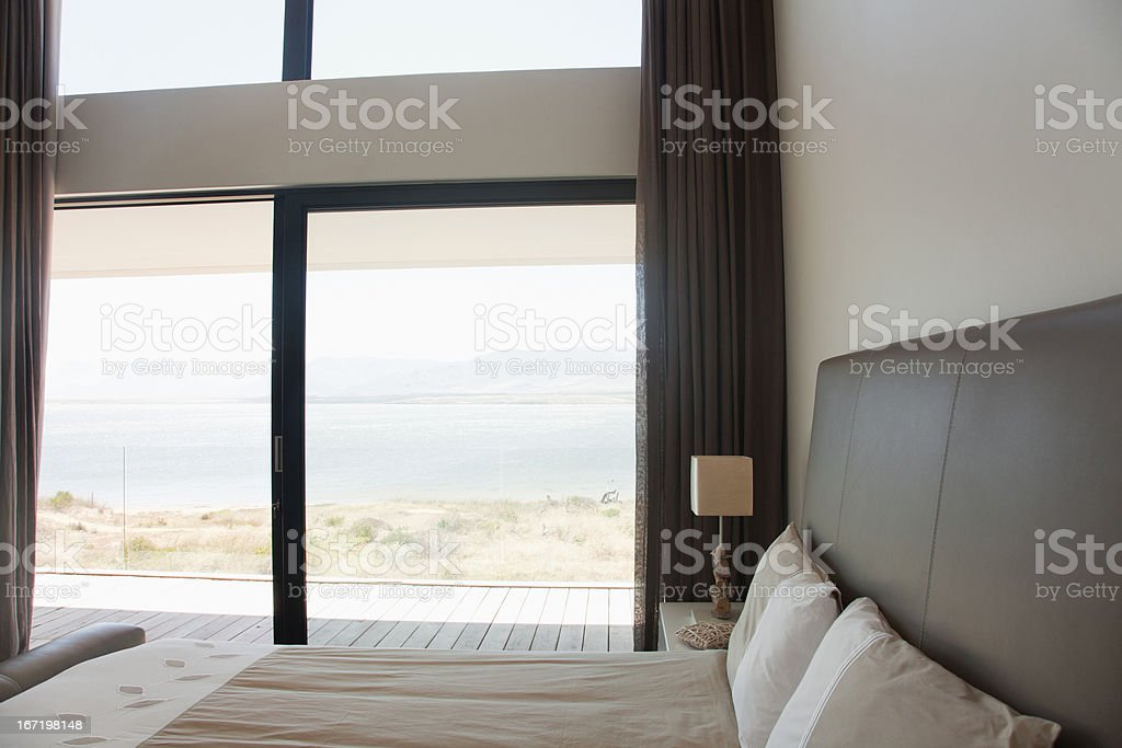 Bedroom in modern house royalty-free stock photo